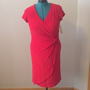 Coldwater Creek Red shape me wrap dress, size 10